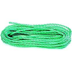 Chapuis ppc825u náutica–Cuerda trenzada (polipropileno,–Diámetro: 8milímetros–Longitud: 25metros–color: verde