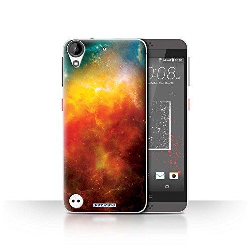 Stuff4 Hülle / Case für HTC Desire 630 / Orange Nebelfleck Muster / Weltraum Kollektion