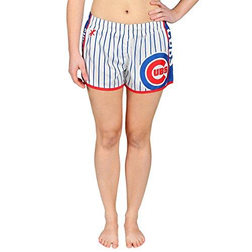 Nadelstreifen-damen Shorts (FOCO MLB Damen-Shorts aus Polyester mit Nadelstreifen, Damen, Team Color, Small)