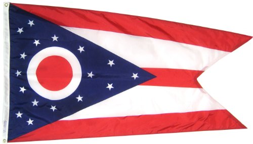 Annin Flagmakers Ohio State Flag Nylon SolarGuard NYL-Glo 100% Made in USA nach Offiziellen State Design Spezifikationen 3x5' Nicht zutreffend -