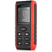 INLIFE Telémetro Láser 40m Medidor Láser de Distancia, Metro Láser con Multi-Modos Medida, ±2 mm Alta Precisión, para Planificación, Instalación