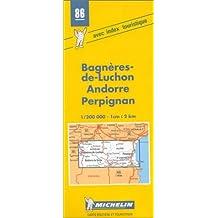 Carte routière : Luchon - Andorre - Perpignan, 86, 1/200000
