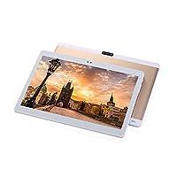 TXVSO 10.1 Inch Tablet PC Phablet, Google Android 4.4, Unlocked 3G WCDMA/GSM Dual SIM Slot, Quad Core, IPS Display, 1GB+16GB, 5000mAh, 0.3+2.0MP Dual Camera, WiFi, GPS, Bluetooth, Gold
