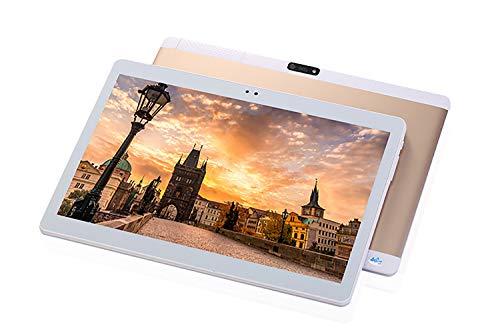 TXVSO 10.1 Pulgadas Tablet PC Phablet, Google Android 4.4, Ranura Dual SIM Desbloqueada 3G WCDMA/gsm 3G, Quad Core, Pantalla IPS, 1GB+16GB, 5000mAh, Cámara Dual 0.3+2.0MP, WiFi, GPS, Bluetooth, Oro