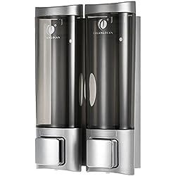 Anself CHUANGDIAN Manuale Mano Sapone Dispenser Wall Mount 200mlx2 Shampoo Liquido Doccia per Bagno