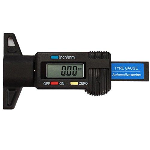 Digital Reifen Profiltiefenmesser Meter Dosierer für Autos Fahrräder oder Vans 0–25,4mm