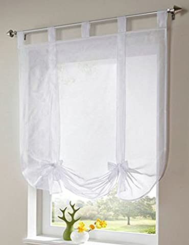 Artvale Stores Romain Rideaux Intérieur de Fenêtre avec Ruban Décoration