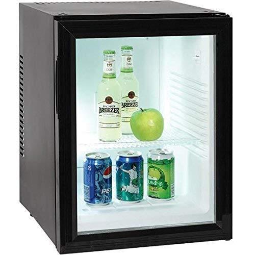 Minibar kleiner Mini Kühlschrank mit Glastür für Getränke 40 Liter Volumen Minikühlschrank Lautlos Hotelkühlschrank 220 V Kühlschrank für Zimmer und Hotels