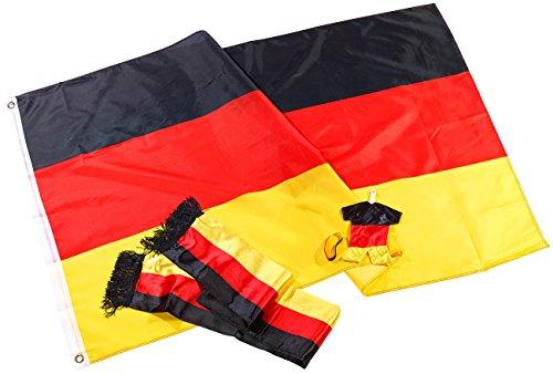 """PEARL Fanset: Fan-Set """"Deutschland"""", 5-teilig (Fan-Artikel in Nationalfarben)"""