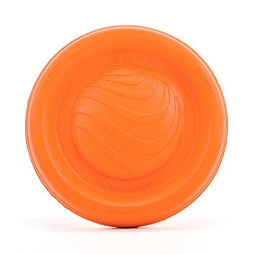 Hunde Frisbee, LaRoo™ Hunde Frisbee Hunde Flying Disc ABS Material Floatable Hund Spielzeug Pet Frisbee für Welpen, Kleine, Mittlere und Große Hunde - Orange