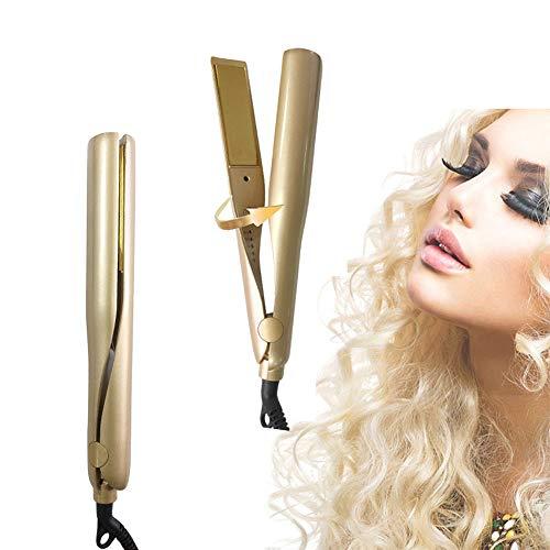 VKFG Lisseur Intelligent Keratin Protect,Boucleur à Cheveux Automatique Chauffant Curl,4 Niveaux De Tempé Rature,140℃ - 220°C avec 1trous de pulvérisation