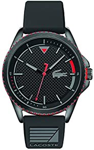 Lacoste Mens Quartz Watch, Analog Display and Silicone Strap 2011029