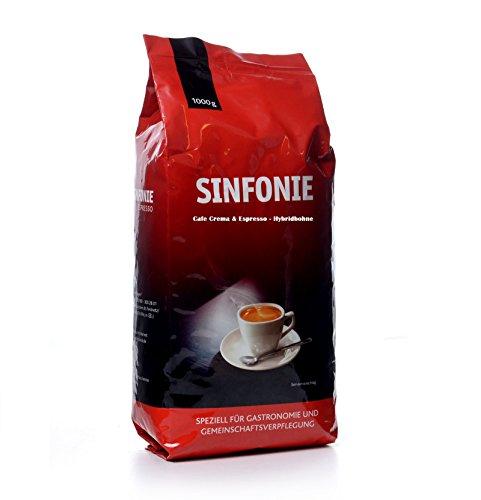 Jacobs Sinfonie Kaffeebohnen Hybridbohne aus Crema & Espresso Kraft Food 8 x 1 Kg