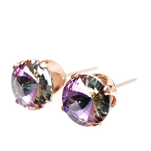 end-of-line-clearance-rose-gold-stud-earrings-expertly-made-with-sparkling-starlight-crystal-from-sw