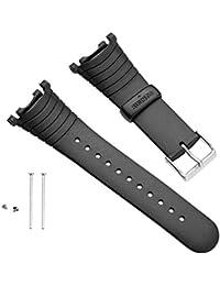 Suunto Strap R Correa para Relojes, Armband Vector Black elastomer (SS004768000), Negro, Talla Única
