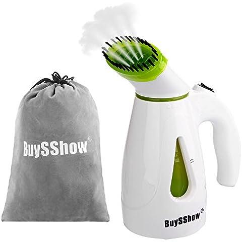 buysshow a vapore, vapore portatile Mini Viaggio, Tessuto A Vapore, Potente veloce riscaldamento Pulitore con pennello