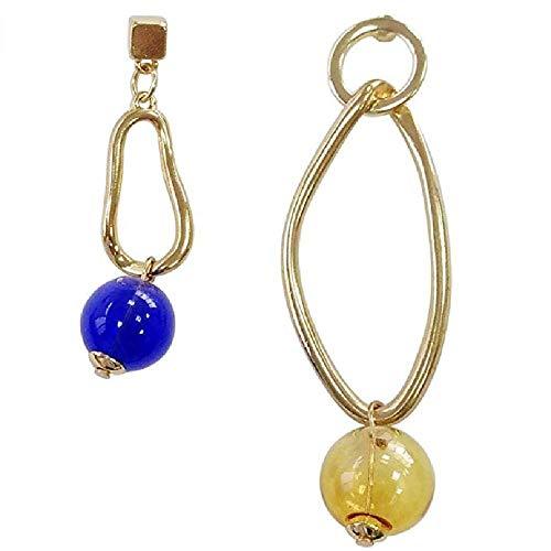 Unregelmäßige Form Ohrringe Blue Glass Bubbles/Ohrringe Blue Bubble Kleid