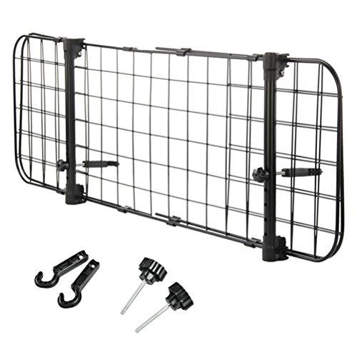 TIMESETL Auto Hundegitter Universal Kofferraum Trenngitter für Hunde, Schutzgitter mit Kopfstützen-Befestigung zum Transport für Hund, Stufenlos verstellbares Kofferraumschutz Gitter