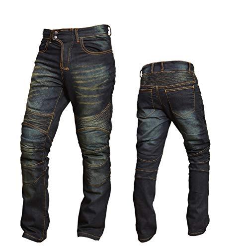 XTRM Neu Motorradjeans Motorrad Kevlar gefüttert Aramid Jeans, Slim-Fit-Design Denim-Jean Motorradhose Herren Damen Jeans mit Schutzfunktion, SCHWARZ, BLAU (Schwarz, W38, InsideLeg31) -