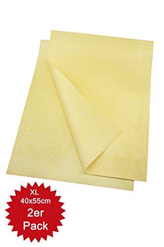 Saugstarkes Microfaser-Ledertuch für Auto, Küche, Bad/WC | Autotuch zum Abtrocknen nach der Autowäsche | ideal für Oberflächen aus empfindlichen Lacken, Kunststoff, Glas und Keramik