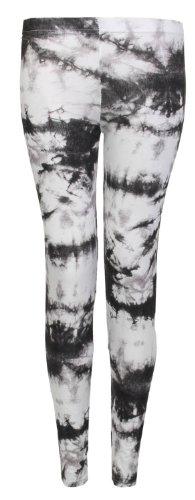 Fast Fashion - Leggings Pleine Longueur Imprimé Animal Tribal - Femme Colorant de cravate noire