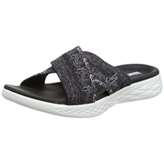 Skechers Women's 15306 Platform Sandals, Black (Black/White), 5 UK 38 EU