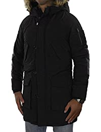 JACK & JONES Herren Parka jorFOREST Jacket Wintermantel Winterjacke Kapuze dick warm gefüttert abnehmbares Kunstfell