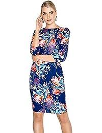 ... for Clothing   Women   Dresses   Vestry. Tulip Print Bodycon Dress 3aedad3eb