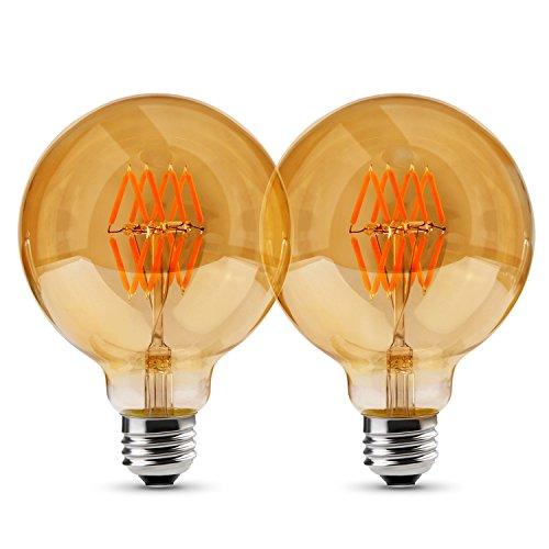 Albrillo dimmbar E27 LED Globe ersetzt 50W, Filament Glühbirne Retro Edison Vintage, warmweiß, φ 95mm