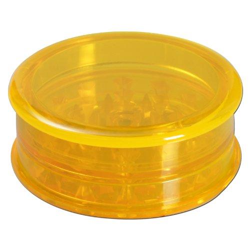 Grinder Kräutermühle Acryl mit Vorratsdose in Farbe Gelb von PatchouliWorld Ø60mm - Acryl Grinder