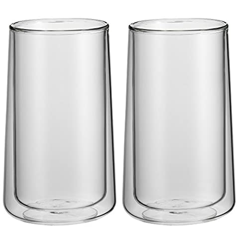 WMF Latte Macchiato Glas-Set 2-teilig Coffee Time Glas spülmaschinengeeignet (Latte Macchiato Tasse)