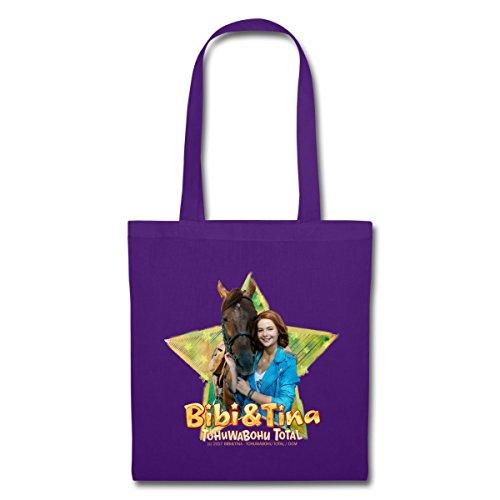 Spreadshirt Bibi Und TinaTohuwabohu Total Amadeus Stoffbeutel Lila