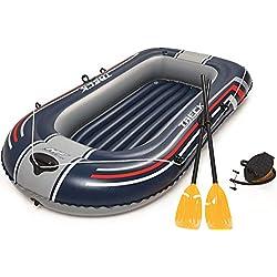 Bestway-61083000 Barca Hinchable+remos+hinchador 228x127cm, 228x127 cm (61083)