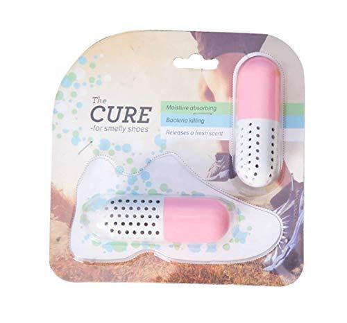 2 StüCke Universal Schuh Geruchse Liminator Antibakterielle Einfache GrüNe Outdoor Waschmittel Lufter Frischer Geruch Entferner Tragbare Reisekapsel Reinigungs Mittel (Rosa) -