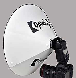 Opteka BD-10 Studio 60cm Beauty Dish Reflector/Diffuser/Diverter for Portraits ~ Universal Design to fit Most External Camera Flashes