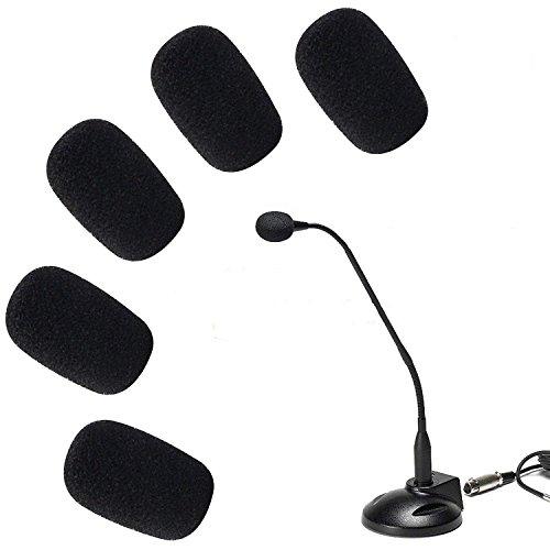 ANiceSeller 5 x 5 unidades pequeño micrófono parabrisas espuma suave Mic cubierta Esponja piel