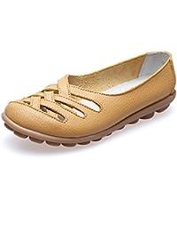 Oriskey Mocasines de cuero mujer Loafers Casual Zapatos Zapatillas