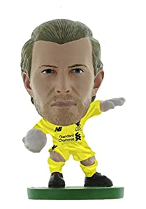 SoccerStarz SOC1316 Liverpool Loris Karius-Home Kit (2019 Version)/Figuras, Verde