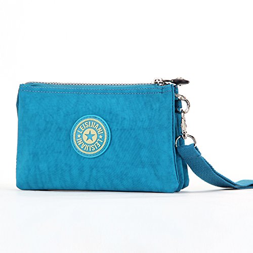 Dq li da donna blu borsa Mini Outdoor Borsa Make Up portafoglio