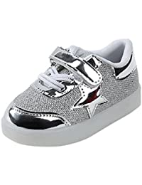 LED Zapatillas SMARTLADY LED Casual Zapatos para niña niño,Tamaño 21-30