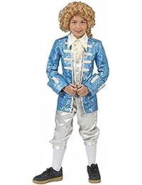 Barock Kostüm Johann mit Gehrock für Jungen - Hellblau - Kinder Rokoko Anzug für Theater Musical Karneval