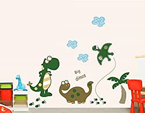 """""""Big Dinos!"""" Dinosaur Premium Wall Stickers - Removable and Repositionable for Boys / Kids Bedroom Walls from DecoBay"""