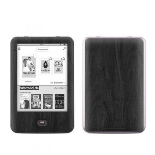 Tolino Shine Skin Ebook Reader Design Schutzfolie Skins Sticker Vinyl Aufkleber - Holz Black Woograin