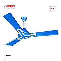 JANAKI STUNNER 1200mm Sweep 60-Watt Ceiling Fan (Blue)