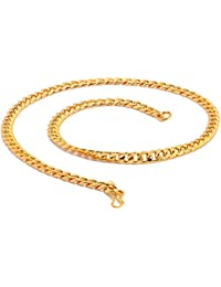 Chain For Men(Alloy Gold Plated Latest Men's Chain) - B074H9YWS3