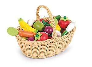 Janod - Juguete Cesta de 24 frutas y verduras (J05620)