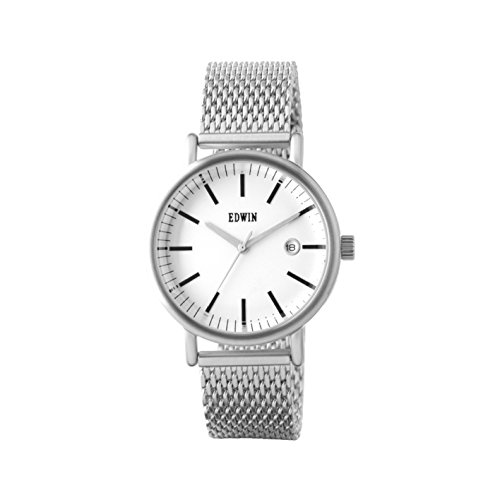 Edwin EPIC Women's 3 Hand-Date Watch, Stainless Steel Case and Band