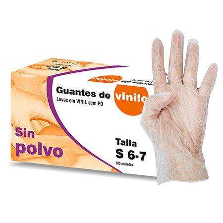 GUANTES DE VINILO SIN POLVO Talla M 10Cajas+100u pack