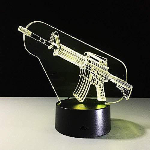 new Ak gun 3d led nachtlichter lampara escritorio nachtlicht batterie nachtlicht kinder beleuchtung für unter küchenschränkenew