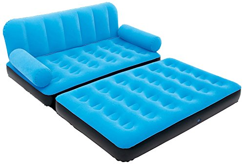 Karmax Bestway Three Seater Sofa cum Bed (Blue)